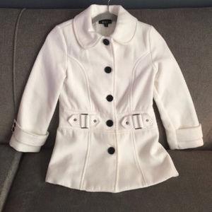 BCX Girl Ivory Pea Coat size M